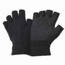 1pr Mens Fingerless Gripper Gloves Work Safety Thermal Warm Non Slip Dotted Palm