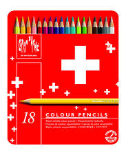 CARAN D'ACHE SWISSCOLOR COLOURED PENCILS - Tin of 18 Assorted Colours