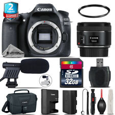Canon EOS 80D DSLR + 50mm f/1.8 IS STM + Shoutgun Mic + UV + Case - 32GB Kit