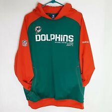 Miami Dolphins Hoodie Sweatshirt Mens Medium NFL Reebok Pullover Shirt