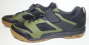 Giro Ventana Fastlace Men's Mountain Cycling Shoes, Black/Olive, US 9 / EUR 42