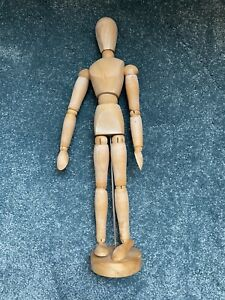 "12"" INCH ARTIST WOODEN MANNIKIN MANNEQUIN SKETCHING LAY FIGURE DRAWING AID"