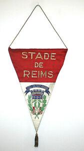 Rare Pennant wimpel banderin fanion brodé Stade de Reims Champagne années 60's