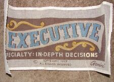 Vintage Gemini Needlepoint Kit Executive Specialty In Depth Decisions 1977 Open