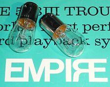 EMPIRE 598 Turntable Pilot / Illuminator Lamp Bulbs **** VALUE  2-PACK****