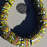 15 old antique venetian cylindrical millefiori african trade beads #4764