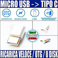 Cavo Adattatore da Micro USB a Type C Tipo Huawei Samsung Xiaomi LG Connettore