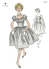Vintage 1950's Sewing Pattern Reproduction - Marilyn Style Dress - Various Sizes