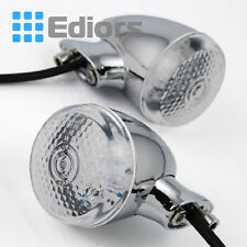2x Chrome Clear  Rear Turn Signal Light 20 LED Side Marker For Harley Motorcycle