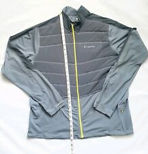COLUMBIA Mens Gray OMNI-SHIELD FULL ZIP SOFTSHELL JACKET SIZE L