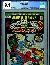 Marvel Team Up #1 CGC 9.2 NM- White Pages 1972 Marvel Comics Amricons B11