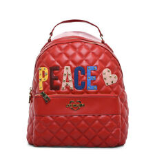 Love Moschino Red Quilted Designer Rucksack Backpack