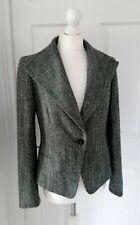 MAX MARA Virgin Wool Blend Boucle Grey Blazer Jacket UK 10 EU 40 Smart Spring