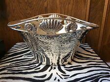 Emilia Castillo Silver Plated Large Sea Shell Designed Bucket / Vase - Mexico