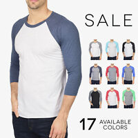 Next Level Premium 3/4 Sleeve Raglan Baseball T-Shirt Tri Blend Plain Tee 6051