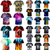 Men's Women's T Shirt Tee Tops Clothes Funny Galaxy 3D Pattern Summer Cool