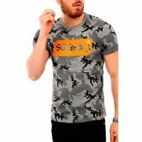 Superdry Mens Core Logo Tag Camo AOP T-Shirt (Grey)