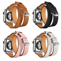 Real Leather Band Strap Bracelet Watchband For Apple Watch iWatch 38mm 42mm &&