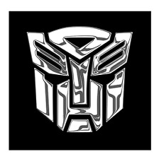 TRANSFORMERS AUTOBOT Chrom 2x Aufkleber Sticker Emblem 100x100mm