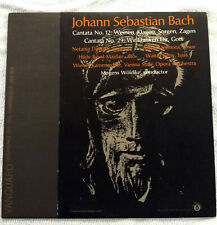 Bach: Cantata No.12 and 29. Mogens Woldike Conductor