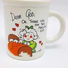 Dear God Kids Mug Annie Fitzgerald Small Childs Big Sister Baby 1983 1980s