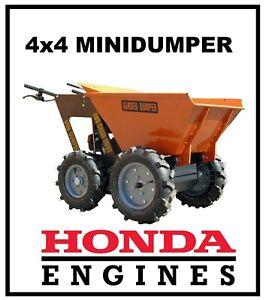 Minidumper Motorschubkarre Radlader Muldenkipper 4x4 neu mit EURO V Abgasnorm