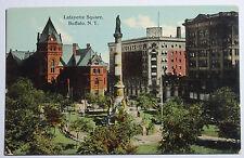 1908 Postcard Lafayette Square Buffalo New York Unposted