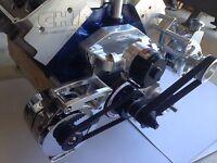 Ford billet Boss Clevor windsor alternator bracket low mount driver side