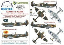 Montex KAM 1:32 Spitfire VIII #1 for Tamiya Mask+Metal Part #KAM32181