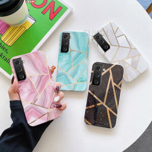 Case For Samsung S21 Ultra S20 FE Note 20 A72 A52 A32 Marble Silicone Back Cover