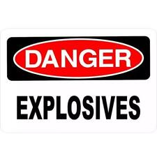 Metal Sign Warning Caution Danger Explosives Gate Home Store Wall Poster Cave