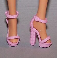 Barbie Doll Shoes Fashionista Original & Petite Pink Platform Heels Sandals