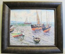 Original English Seascape Oil Painting  Harry W. Newman (1873-1946) antique