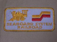 Vintage Seaboard System Railroad Patch Steam Engine Train Logo