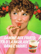 PUBLICITE ADVERTISING  1981   DANONE   yaourts aux fruits