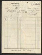 """PARIS (XVII°) USINE à COURBEVOIE (92) de CAOUTCHOUC """"CONTINENTAL"""" en 1907"""