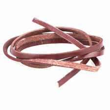 Brown 5mm Flat Leather Lace 1 Metre Lengths Shoes Boots Laces Lacing Thread