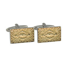 Classic Custard Cream Biscuit Design Cufflinks british victorian New & Boxed