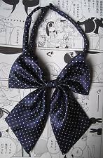 Azul Marino Spotty Kitty arco Geek Kawaii Japón School Girl Cosplay Alt pre atado Bow Tie