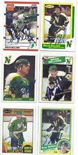 Brian Bellows Signed Hockey Card Minnesota 1987 OPC