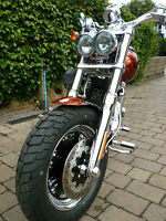 HARLEY DAVIDSON FXDFSE FAT BOB HEADLIGHT PROTECTOR 1 PIECE, MADE IN THE UK