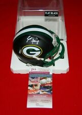 BRETT FAVRE GREEN BAY signed Flat Black Mini Helmet RADTKE Holo JSA Witnessed