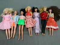 Vintage Lot 6 Barbies dolls, 1 Ken  W/ clothes,  RARE must see (2 Oriental)