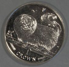 Isle of Man 1997 Long-haired Smoke Cat 1 Crown Coin