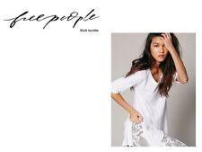 New Free People Melrose Swing Tee 100% Cotton Top Women's 3-4pc Bundle XS-L $272