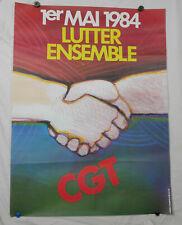 ancienne affiche cgt 1er mai 1984 alvaro harpo  n°36