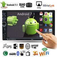 "7"" Android 7.1 Autoradio Touchscreen Navi Bluetooth USB GPS Doppel 2DIN MP5"