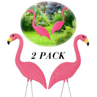 Pair of Pink Flamingos Left /& Right Facing Funny Car Window Decal Sticker 0131
