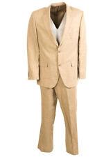 ROY ROBSON Anzug Sand Brown Leinen Größe 54/44 Bw 577