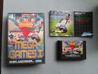 JUEGO SEGA MEGA DRIVE 3 EN 1 MEGA GAMES I CON MANUAL WORLD CUP ITALIA 90 PAL